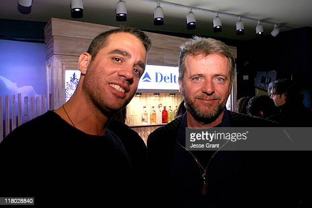 Bobby Cannavale and Aidan Quinn during 2007 Sundance Film Festival Gen Art and Delta FlyIn Movies Celebration at Delta Sky Lodge in Park City Utah...