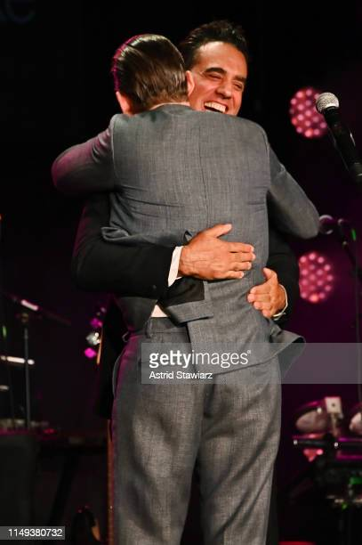 Bobby Cannavale and Ethan Hawke embrace onstage at the BAM Gala 2019 on May 15 2019 in New York City