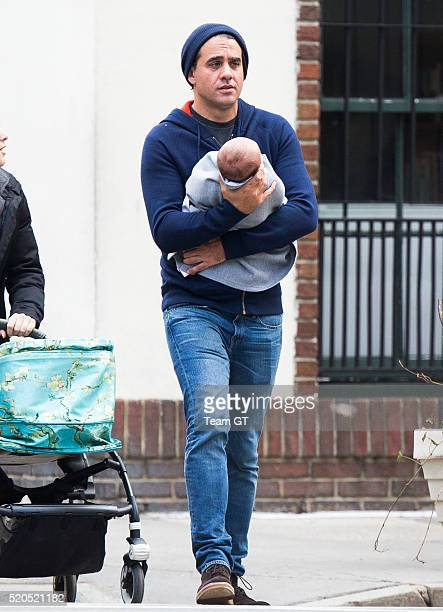 Bobby Cannavale and his son Rocco Cannavale are seen on April 11 2016 in New York City
