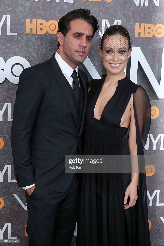 Bobby Cannavale (L) and Olivia Wilde attend the New York Premiere of 'Vinyl' at Ziegfeld Theatre on January 15, 2016 in New York City.