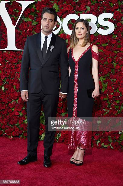 Bobby Cannavale and Rose Byrne attend the 70th Annual Tony Awards at The Beacon Theatre on June 12 2016 in New York City