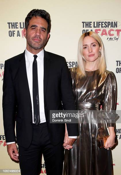Bobby Cannavale and Rose Byrne attend 'The Lifespan of A Fact' opening night after party at Brasserie 8 1/2 on October 18 2018 in New York City