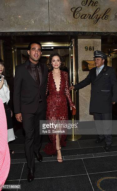 Bobby Cannavale and Rose Byrne depart for the MET Gala 2015 from The Carlyle on May 4 2015 in New York City