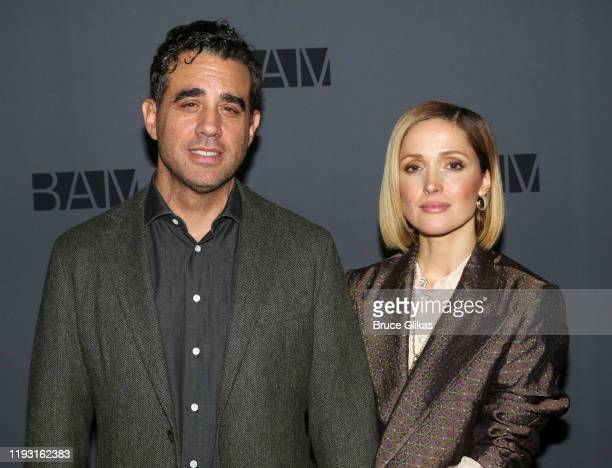 Bobby Cannavale and Rose Byrne pose at a photo call for the upcoming production of Medea at BAM on December 10 2019 in The Brooklyn Borough of New...