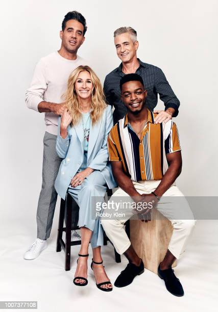 Bobby Cannavale Julia Roberts Dermot Mulroney and Stephan James of Amazon's 'Homecoming' pose for a portrait during the 2018 Summer Television...