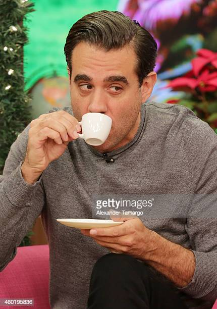 Bobby Cannavale on the set of Univision's Despierta America to promote the movie 'Annie' at Univision Headquarters on December 9 2014 in Miami Florida