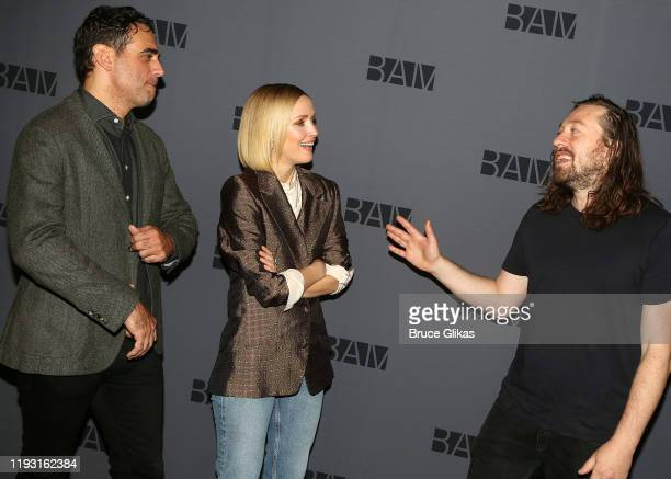 Bobby Cannavale Rose Byrne and Director Simon Stone chat at a photo call for the upcoming production of Medea at BAM on December 10 2019 in The...