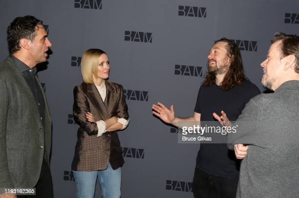 Bobby Cannavale Rose Byrne Director Simon Stone and Dylan Baker chat at a photo call for the upcoming production of Medea at BAM on December 10 2019...