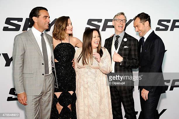 "Bobby Cannavale, Rose Byrne, Melissa McCarthy, director Paul Feig, and Jude Law attend the ""Spy"" New York Premiere at AMC Loews Lincoln Square on..."