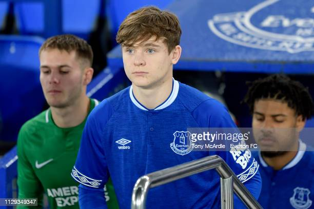 Bobby Carroll of Everton during the FA Youth Cup match between Everton and Brighton Hove Albion at Goodison Park on February 12 2019 in Liverpool...