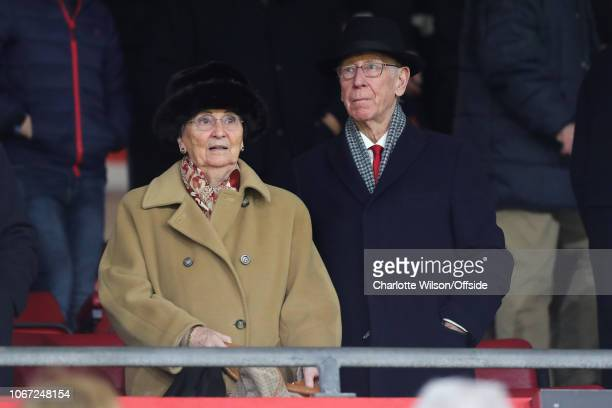 Bobby Charlton and his wife Norma during the Premier League match between Southampton FC and Manchester United at St Mary's Stadium on December 1...