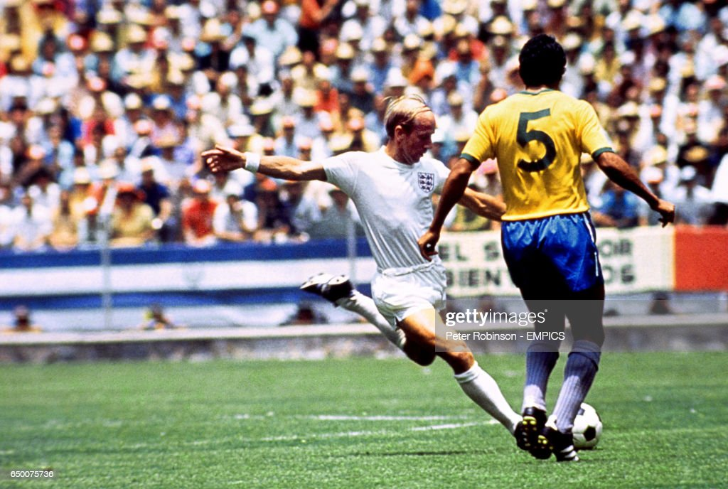 Soccer - World Cup Mexico '70 - England v Brazil : News Photo