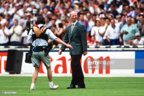 Bobby Charlton former player during the European Championship match between England and Switzerland at Wembley Stadium London England on 8th June 1996