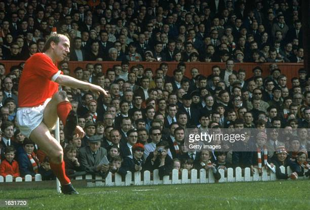 Bobby Charlton of Manchester United in action during a match Mandatory Credit Allsport UK /Allsport