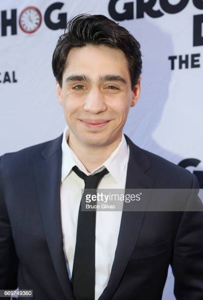 Bobby Conte Thornton poses at the opening night of the new musical based on the film Groundhog Day on Broadway at The August Wilson Theatre on April...