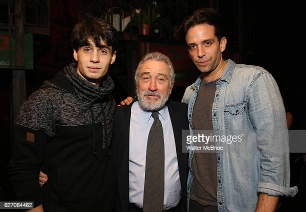 Bobby Conte Thornton Robert De Niro and Nick Cordero during the Actors' Equity Gypsy Robe Ceremony honoring Jonathan Brody for 'A Bronx Tale' at The...