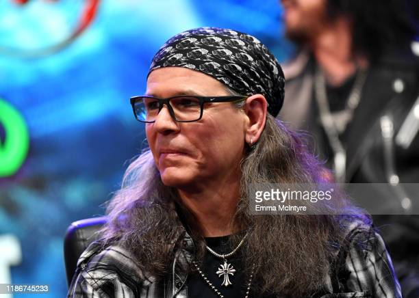 Bobby Dall of Poison speaks during the press conference for THE STADIUM TOUR DEF LEPPARD MOTLEY CRUE POISON at SiriusXM Studios on December 04 2019...