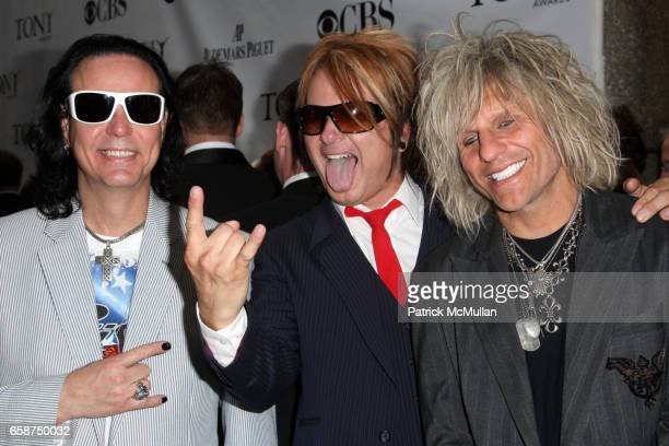 Bobby Dall Rikki Rockett and CC DeVille attend 63rd Annual Tony Awards Arrivals at Radio City Music Hall on June 7 2009 in New York City