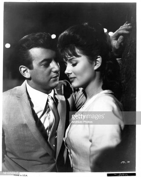 Bobby Darin and Pamela Tiffin play young lovers in a scene from the film 'State Fair', 1962.