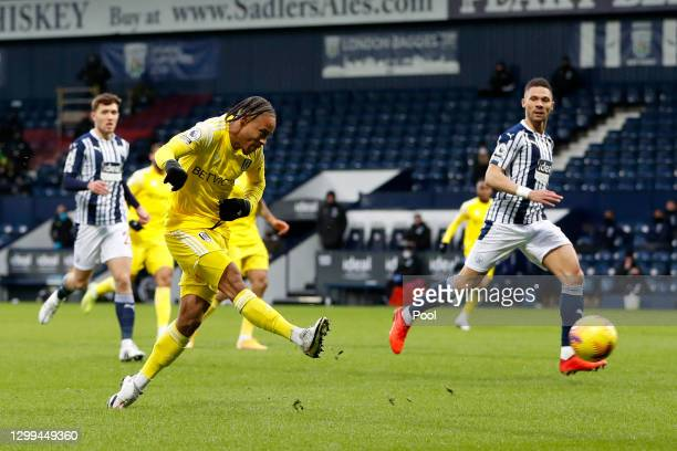 Bobby De Cordova-Reid of Fulham scores their side's first goal during the Premier League match between West Bromwich Albion and Fulham at The...