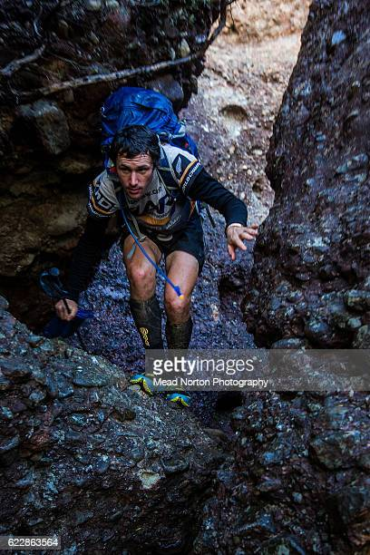Bobby Dean from Sneaky Weasel Gang from New Zealand hiking up to 'The Castle' in Morton National Park during the Adventure Race World Championship on...