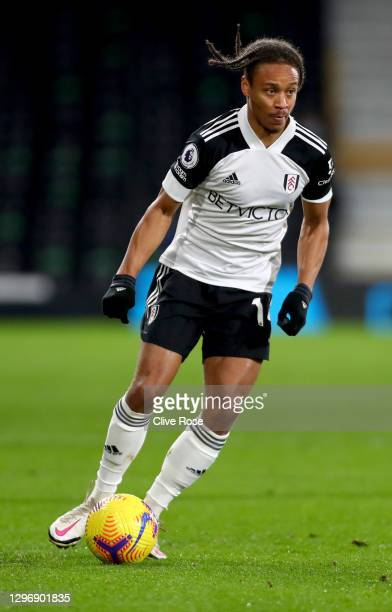Bobby Decordova-Reid of Fulham during the Premier League match between Fulham and Chelsea at Craven Cottage on January 16, 2021 in London, England....