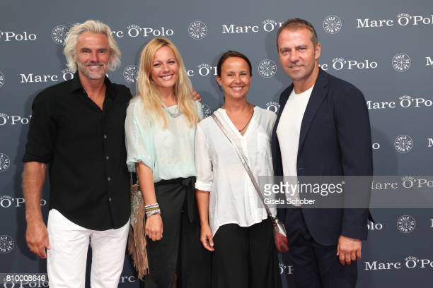 Bobby Dekeyser Former professional football keeper and his daughter Carolin Dekeyser Hansi Flick and his wife Silke Flick during the 50th anniversary...
