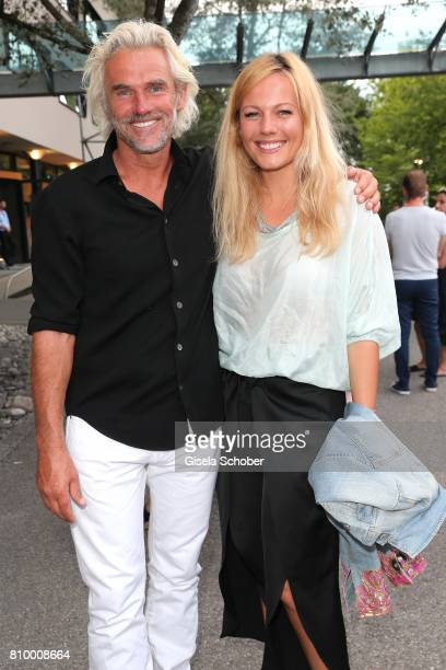Bobby Dekeyser, Former professional football keeper and his daughter Carolin Dekeyser during the 50th anniversary celebration of Marc O'Polo at its...