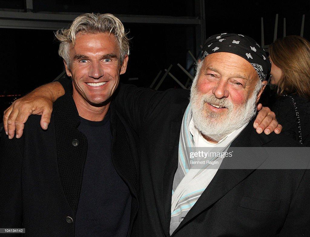 Bobby Dekeyser of Dedon and photographer Bruce Weber attend Dedon Celebrates New York Hosted By Bruce Weber And Bobby Dekeyser at Nouvel Chelsea on September 15, 2010 in New York City.