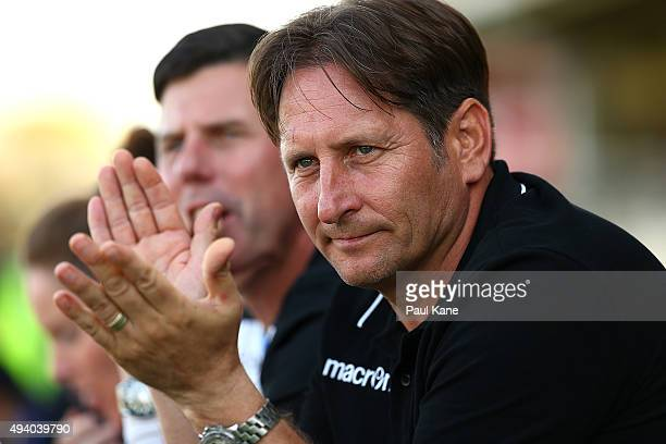 Bobby Despotovski head coach of the Glory looks on during the round two WLeague match between Perth Glory and the Newcastle Jets at Ashfield Reserve...