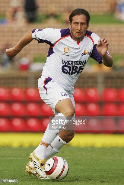 Bobby Despotovski of the Glory controls the ball during the round 21 ALeague match between the Newcastle Jets and Perth Glory at Energy Australia...