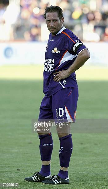 Bobby Despotovski of the Glory looks on during the round 20 Hyundai ALeague match between Perth Glory and the Newcastle Jets at Members Equity...