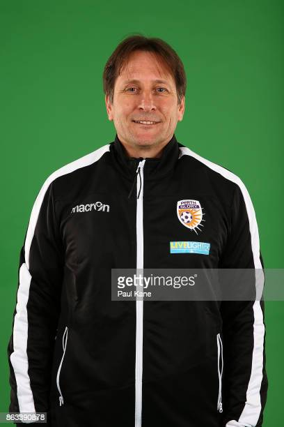 Bobby Despotovski poses during a Perth Glory WLeague headshots session on October 18 2017 in Perth Australia
