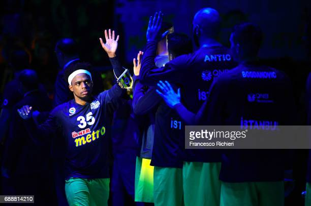 Bobby Dixon #35 of Fenerbahce Istanbul before the Championship Game 2017 Turkish Airlines EuroLeague Final Four between Fenerbahce Istanbul v...