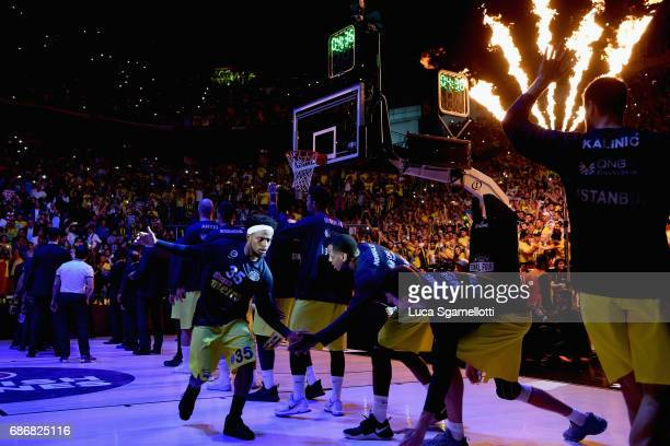 Bobby Dixon #35 of Fenerbahce Istanbul during the presentation of Championship Game 2017 Turkish Airlines EuroLeague Final Four between Fenerbahce...
