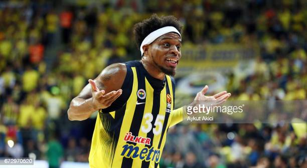 Bobby Dixon #35 of Fenerbahce Istanbul in action during the 2016/2017 Turkish Airlines EuroLeague Playoffs leg 3 game between Fenerbahce Istanbul v...