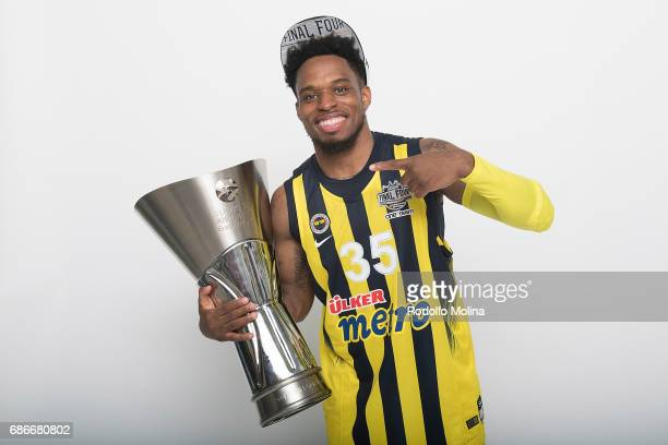 Bobby Dixon #35 of Fenerbahce Istanbul pose with Trpohy duringTurkish Airlines EuroLeague Basketball Final Four istanbul 2017 Champion Photo Session...
