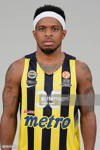 Bobby Dixon #35 of Fenerbahce Istanbul poses during the 2015/2016 Turkish Airlines Euroleague Basketball Media Day at Ulker Sports Arena on September...