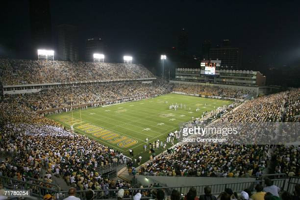 Bobby Dodd Stadium/Grant Field hosts the game between the Georgia Tech Yellow Jackets and the Notre Dame Fighting Irish on September 2 2006 in...