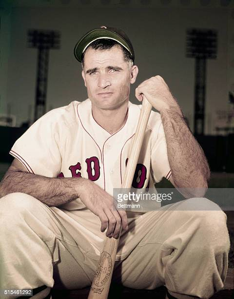 Bobby Doerr of the Boston Red Sox is shown in this closeup