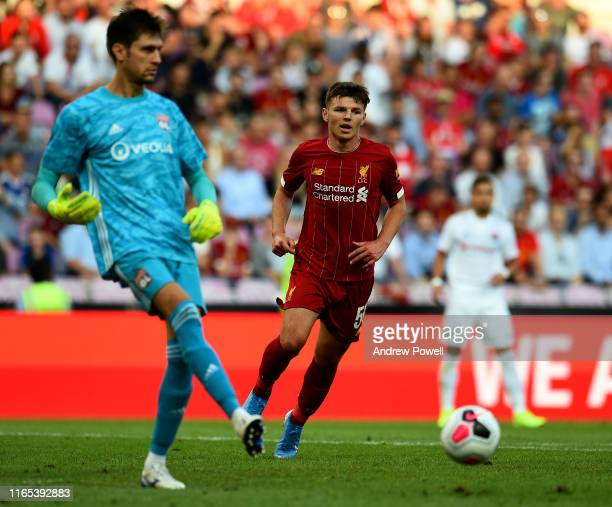 Bobby Duncan of Liverpool during the PreSeason Friendly match between Liverpool and Olympique Lyonnais at Stade de Geneve on July 31 2019 in Geneva...