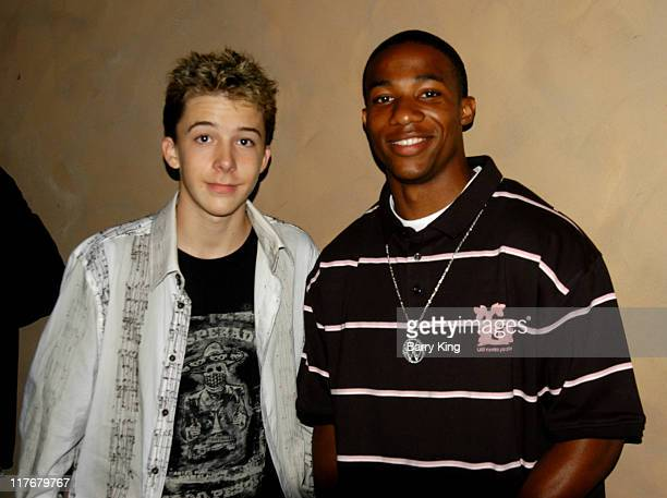 Bobby Edner and Arlen Escarpeta during Hollywood Knights Basketball Team Wrap Party Inside at The Highlands in Hollywood California United States