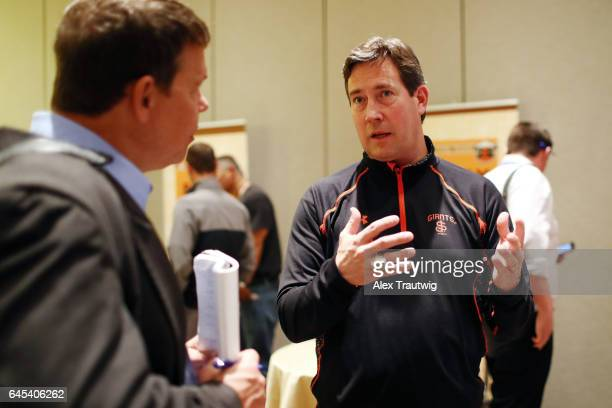 Bobby Evans general manager of the San Francisco Giants speaks to the media during 2017 Cactus League Media Availability on Tuesday February 21 2017...