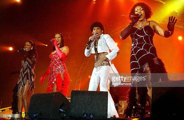 Bobby Farrell of Boney M performs on stage at Los Vast at Ahoy on 16th October 2004 in Rotterdam Netherlands