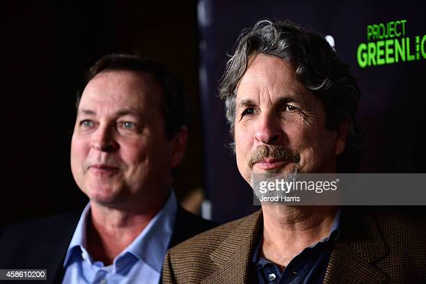Bobby Farrelly and Peter Farrelly attend the 'Project Greenlight' event at Boulevard3 on November 7 2014 in Hollywood California