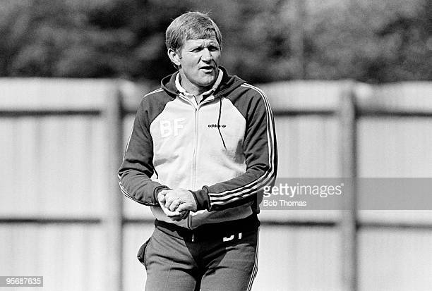 Bobby Ferguson manager of Ipswich Town during a training session at Portman Road Stadium Ipswich on 13th September 1983