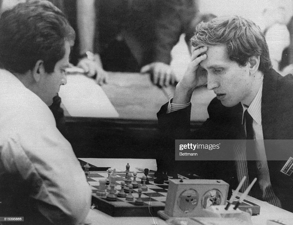 Chess Game Between Bobby Fischer and Boris Spassky : News Photo