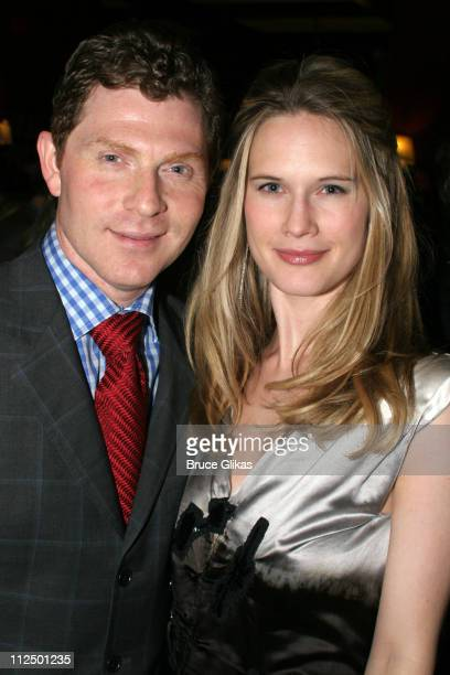 Bobby Flay and wife Stephanie March during 'Glengarry Glen Ross' Broadway Opening Night Curtain Call and After Party at The Royale Theater and...