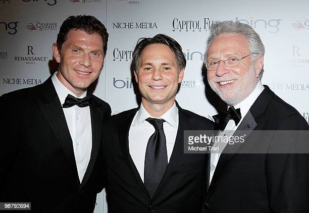 Bobby Flay Jason Binn and Wolf Blitzer arrive to Jason Binn's Niche Media's WHCAD after party with Bing at the Renaissance Washington DC Hotel on May...