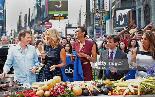 """Bobby Flay prepares recipes on """"Good Morning America,"""" 6/24/13, airing on the Walt Disney Television via Getty Images Television Network. BOBBY FLAY,..."""